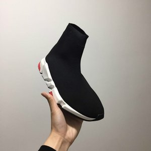 Luxury Sock Shoe Speed Trainers Sneakers Speed Trainer Sock Race Luxury Black Shoes Men And Women Nice Black Shoes 36-45[with box]