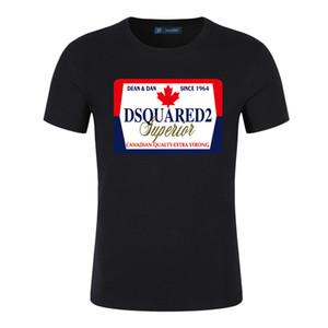 2019 Canada dq2 été des hommes de conception t-shirts hommes de vêtements impression de luxe coton lettre o polo femmes mode cou Chemise sport S-5XL