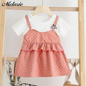 Melario Baby-Kleid-Sommer nette Toddle Baby-Kleid Plaid Mädchen-Prinzessin-Kleider Vestidos Kinder Kleidung Anzug