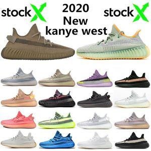 Top Fashion Kanye West Desert Sage Earth Cinder Running Shoes Zyon Yecheil Yeshaya Flax Linen