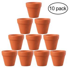 YENİ 10 Ad 4.5x4cm Küçük Mini Terracotta Pot Kil Seramik Çömlekçilik Saksı Cactus Saksılar Sulu Saksılar