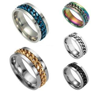 4 1 Pcs Set Men Retro Opal Gem Moon Tarot Sign Chain Ring Set Charm Gold Silver Ring Set Jewelry Gifts #296