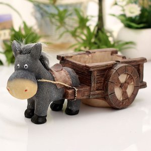 Internet cafe living room fashion cute personality trend donkey pull cart pull mill creative with cover ashtray home decoration