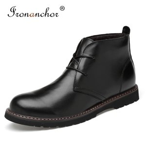 2019 Autumn Men ankle boots Natural Cow Leather Handmade rubber High Quality male boots #YY6815