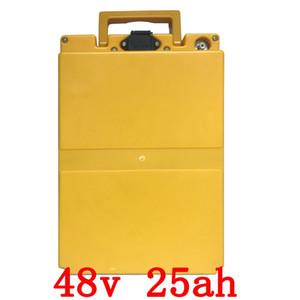 UE EUA nenhum imposto 48 v Pacote de bateria De Lítio com Carregador Construído em 50A 2A 25AH BMS Da Bateria Scooter Elétrico 48 v 2000 w F