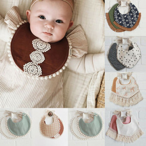 Hot Kid Baby Bibs Baby Boy Girl Toddler Infant Waterproof Saliva Towel Feeding Double Deck Fashion Carton Tassel Bibs
