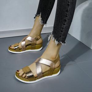 Frauen Sandalen 2020 heiße Art und Weise Frauen-Sommer-Strand-römische Sandale Ladies Open Toe Flache Sandalen Casual Weibliche Schuhe