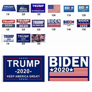 15 Estilos Donald Trump Banderas 2020 American President Mantenga Gran Fiesta Latina indicador de la bandera 90 * 150cm Joe Biden Elección Bandera ZZA2314 30Pcs