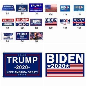 15 Styles Donald Trump Flags 2020 président américain Keep America Great Party Banner Flag 90 * 150cm Drapeau Joe Biden Election ZZA2314 30pcs