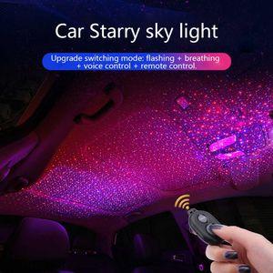 ZUORUI 별이 빛나는 스카이 라이트 자동차 분위기 조명 음악 사운드 원격 제어 레이저 라이트 프로젝터 수정 자동차 장식 램프