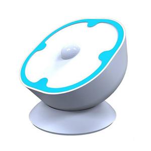 360 ° 회전 모션 센서 나이트 라이트 RechargeablePowered LED 벽 빛 무선 자동 보안 등 스틱 어느 곳이나