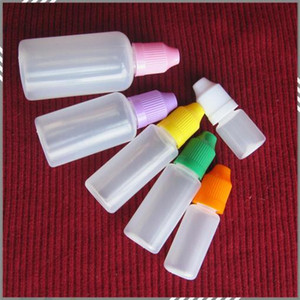 5ml 10ml 15ml 20ml 30ml 50ml Plastic Bottle with Needle Cap Empty Dropper Bottle with Ecig Child Proof Cap Needle Cap DHL free