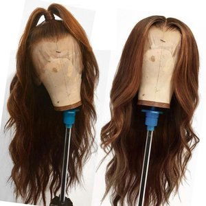 LINMAN Lace Front Hair Wigs with Baby Hair Pre-Plucked Hairline Brazilian Straight Remy Hair Ombre Color Glueless Full Lace Wigs