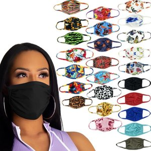 Free DHL Shipping Fashion Women Men Unisex Breathable Washable Face Mask Letters Print Sunproof Anti-dust Cycling Sports Outdoor Mouth Masks