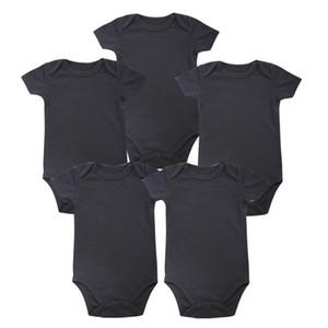 رضيع الرضع مكان جديد للجنسين بوي بيبي ملابس الطفل الوليد الجسم الأسود 100 ٪ من القطن الناعم 0-12 شهرا قصيرة الأكمام