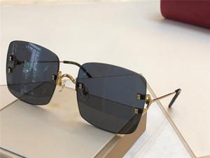 Neue Mode-Design Sonnenbrille 0153s rahmenlos quadratische Rahmen Webart Modellierung Sonnenbrille hochwertige Großschutzbrille