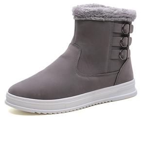 Erkekler Orta buzağı Yüksek Kara Ayakkabı Peluş için 2018 Kış Çizme Erkekler Yüksek Kalite Kar Boots Kış Ayakkabı LettBao