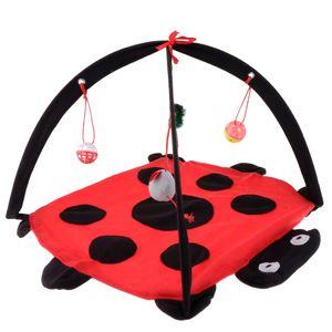 Cat dobrável Tenda Playhouse Pet Kitty filhote de cachorro Hammock Com Brinquedo Dangle