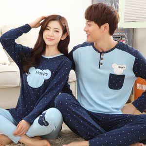 Autumn Winteter Long-sleed Men's Cotton Pajama Letter Stripped Cartoon Pajama Sets Understand Men Pyjama Plus Size 3XL Pijama Set Y200422