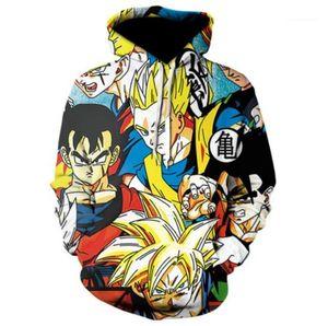 Abbigliamento Dragon Ball Mens autunno Desinger felpe girocollo 3D Stampa Homme Abbigliamento modo di stile casual