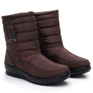 Neve Botas Mulheres Waterproof sapatos femininos botas grossas Plush inverno quente mãe Waterproof Shoes Ladies Botim