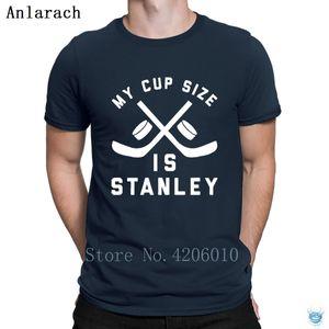 My Cup Size Funny Hockeys Tshirt Fashion Pop Top Tee High Quality Summer Style Men's Tshirt Create Size S-3xl