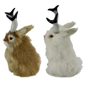 2шт реалистичный Шакалоп Кролик Пасхальный весенний Кролик фигурки животных