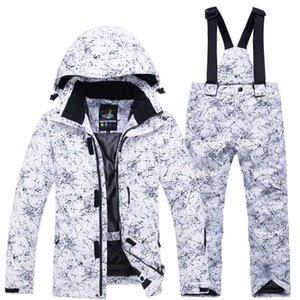 2020 New Girls Boys Ski Suit Hot Waterproof thermal Winter Clothing Children's Ski Suits -30 degree snowboard jacket Pants