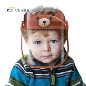 US Kids Face Shield Маска для детей Анти Плевать Изоляция Полный Защитные маски для лица Дети Защита Visor Пластиковые прозрачная крышка