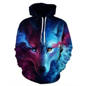 Men Hoodies Sweatshirts 3D Wolf Printed Hoodie Men Women Black Streetwear Plus Size outerwear Hip Hop Hoodie Couple Top