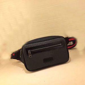 Nueva Moda Hombre Bolsos de Cintura Mensajero Crossbody Solo Bolso de Hombro Hombre Bolsas de Viaje de Negocios Cuero Real con caja