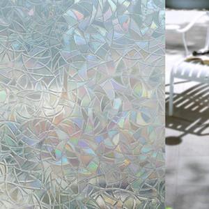 Pegatinas de vidrio para el hogar Sala de estar Dormitorio 3d Sin pegamento Estático Decorativo Películas de ventana de privacidad Autoadhesivo para calor de bloqueo UV EEA283