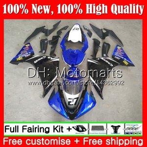 Bodys per YAMAHA YZF 1000 R 1 YZF-1000 YZFR1 09 10 11 12 99MT19 YZF R1 09 YZF1000 YZF-R1 2009 2010 2011 2012 Carenatura blu nero Carena