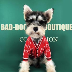 NUOVO autunno inverno del cane vestiti e maglione grosso carta di legge cardigan schnauzer Teddy Bomei Bago abbigliamento abbigliamento gatto