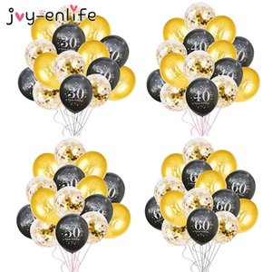 vent & Party Ballons & Accessories Birthday Balloons 15pcs Inflatable Confetti Balloons 12inch Latex Ballons Globos 30 40 50 60 A...