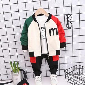Girls Clothes Set Baby Boy 3PCS Tracksuit Fashion Cotton Letter Sports Suit For A Boy T-Shirt + Shorts Children's Clothing