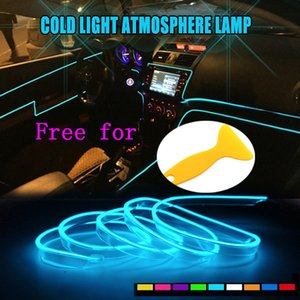 LED 자동차 조명 5m 자동차 인테리어 몰딩 DIY 분위기 빛 대시 보드 콘솔 도어 LED 주위 스트립 액세서리