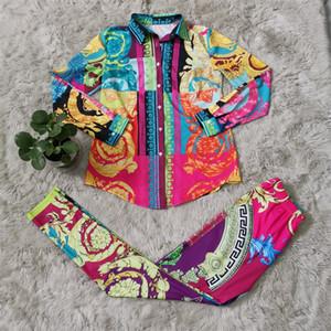 Abiti da donna di modo con la vendita calda Stampa digitale Stile Sport Stile Due pezzi Suit Tracksuit Donne Abiti invernali Abbigliamento donna Abbigliamento donna
