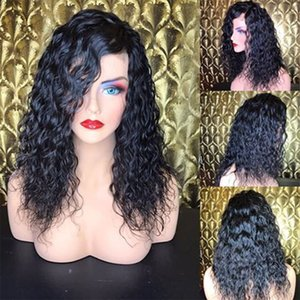 Malaysian Remy Hair PrePlucked Wet Wavy Lace Front Wigs Human Hair with Baby Hair 180% Density Curly Full Lace Wigs for Black Women