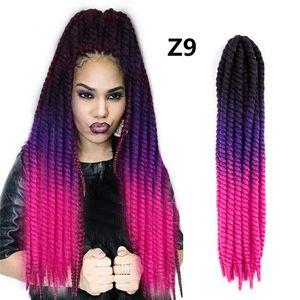 Handmade Dreadlocks Extensions Reggae Crochet Hip-Hop Synthetic Dreads Crochet Braiding Hair For Fashion Women