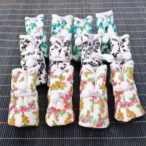 Новое прибытие собаки любимчика Rubber Противоскользящая дождя сапоги снег Водонепроницаемый Малый Cat собак обувь оптом Бесплатная доставка 30RJ17