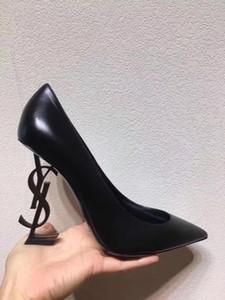 B01 Qualität Neueste spitzen Absatzfrauenschuh Leder Hochzeit Schuhe flachen Mund sexy High Heels Bankett Partei