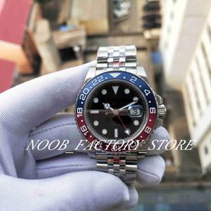 Super GM fábrica Melhor Versão 904L Aço Mens Automatic Cal.3285 Assista Red Blue Men Ceramic Gmt Batman Relógios Dive N Esporte Relógios de pulso