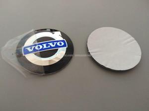 Aluminium 56.5mm 3D Badge voiture Hub centre de roue d'autocollant de chapeau Logo durable emblème d'accessoires de voiture roue décoration Fit pour Volvo / VW / BMW / toYoTa