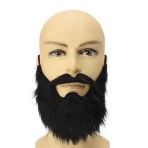 1 Stücke Lustige Mode Gefälschte Arabischen Bart Schwarz Ziegenbart Falsche Verkleidung Kostüm für Halloween Cosplay Schnurrbart Requisiten