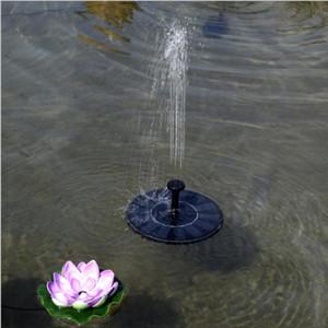 7V Solar Bomba de agua al aire libre flotante El panel solar accionó Plantas fuente de agua de riego para jardín de energía Estanque piscina