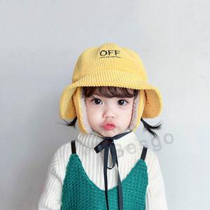 Yeni Çocuklar Sıcak Kış Şapka Sevimli Kulak Koruma balıkçı Şapkalar Kız Moda Çocuk Güneş Cap Bebek Geniş Brim Plaj Hat 4 Renkler DBC BH2828