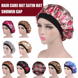 Волосы Атласный Капот Для Сна Шапочка Для Душа Шелковый Капот Капот Femme Женщины Ночной Сон Шапочка Головной Убор Широкая Резинка
