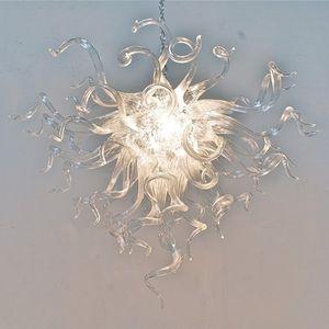 Temizle Üflemeli Cam Avize Işık Salon Sanatsal Işık Fikstür Murano Cam LED Kolye Işıklar Modern Tavan Işık Ücretsiz Kargo