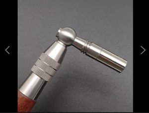 Steel tone tuning wrench, fixed type, mould steel wrench, sandalwood handle, stainless steel wrench shaft